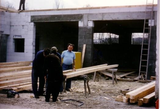 Bau Dachstuhl